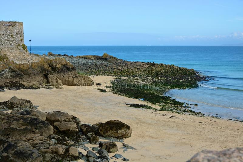 Strand in Heilige Ives, Cornwall, Engeland royalty-vrije stock foto