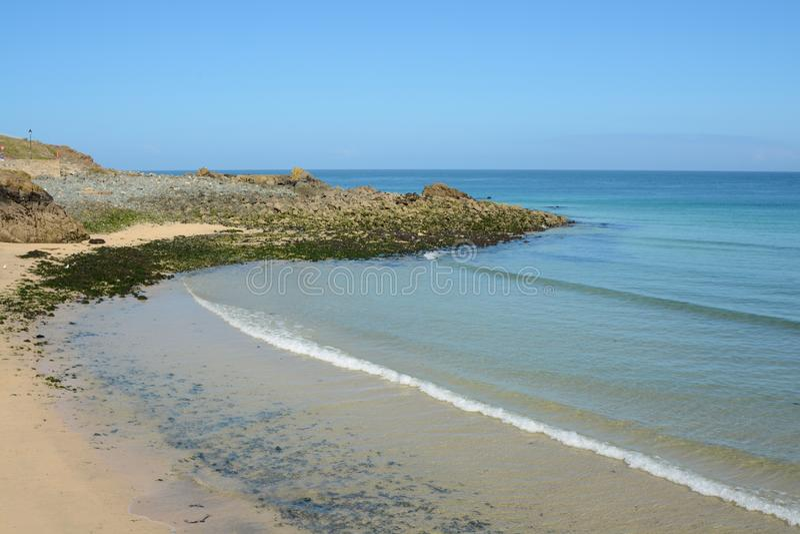 Strand in Heilige Ives, Cornwall, Engeland stock afbeeldingen