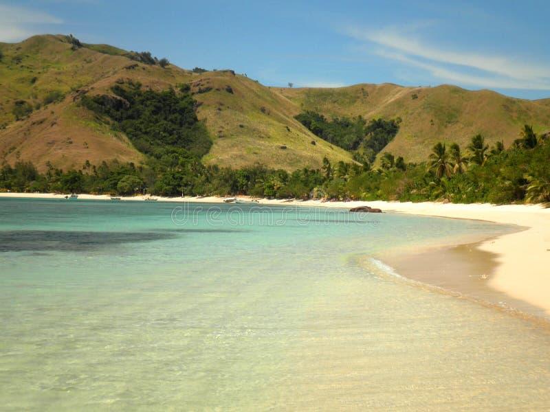 Strand in het Eiland van Fiji royalty-vrije stock fotografie