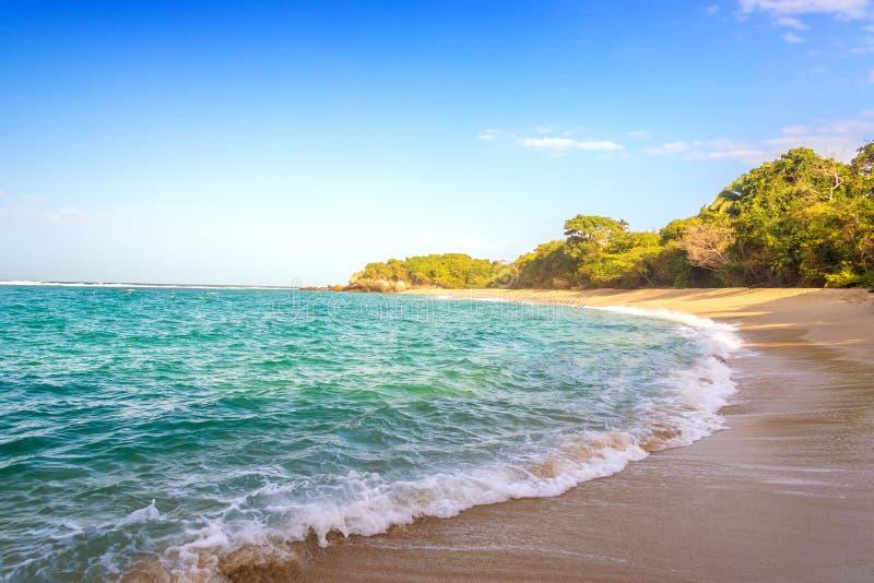 Strand in het Nationale Park van Tayrona stock foto's