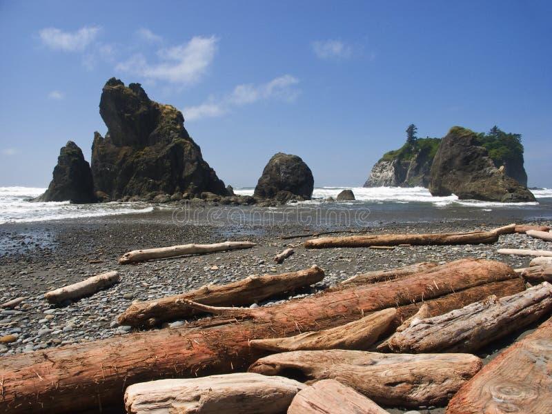 Strand in het Noordwesten royalty-vrije stock afbeeldingen