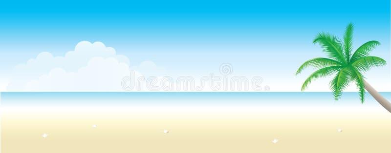 Strand-Hintergrund lizenzfreie abbildung