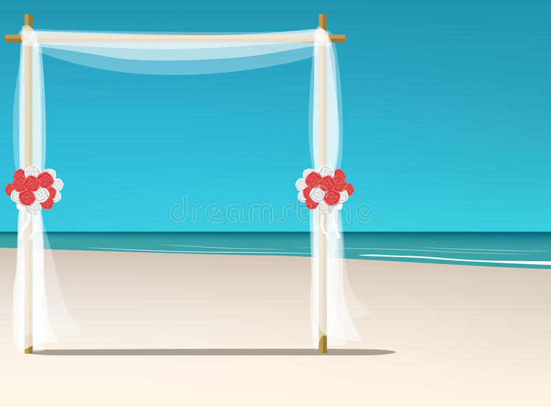 Strand-Hochzeits-Tapete stock abbildung