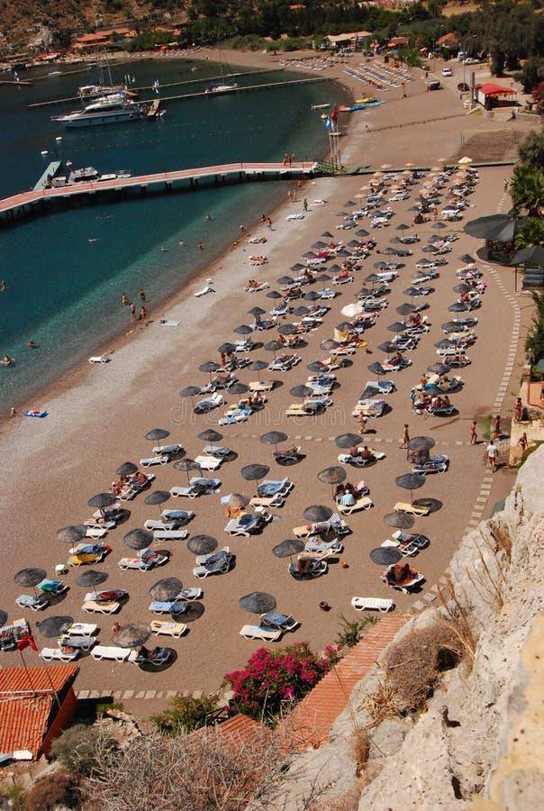 Strand, hoogste mening stock foto