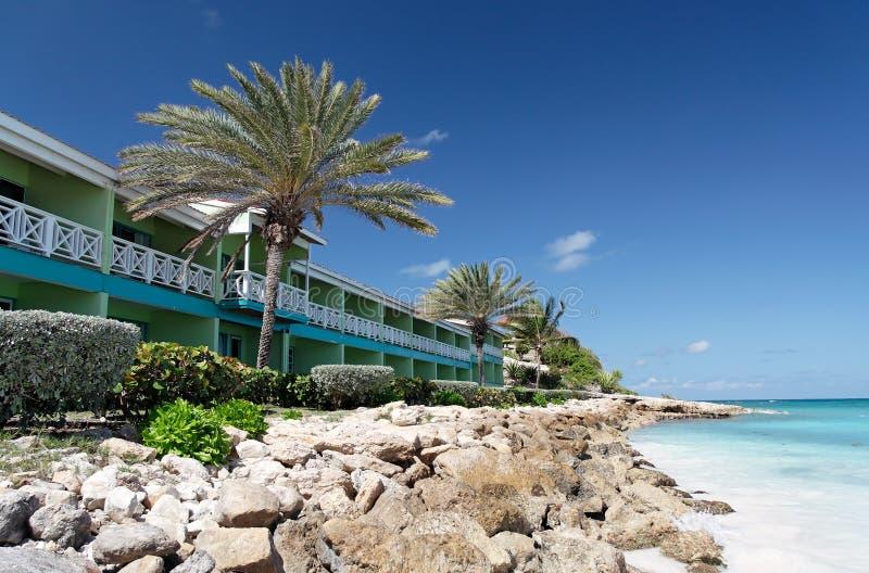Strand-Hotel lizenzfreies stockbild