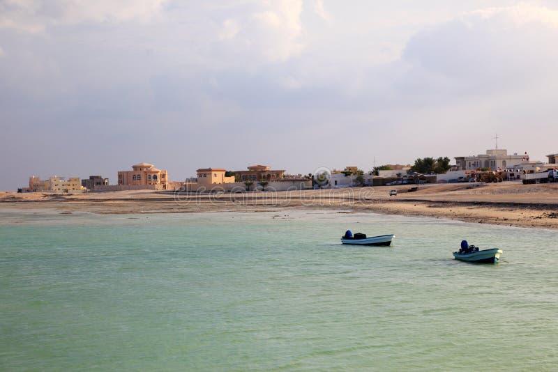 Strand i Al Khor. Qatar royaltyfria foton