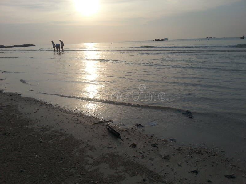 Strand i bangkaön royaltyfri fotografi