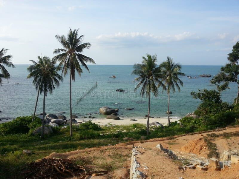 Strand i bangkaön arkivbilder