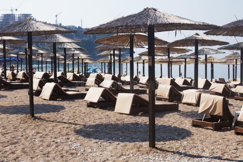 Strand i Budva, Montenegro royaltyfri bild