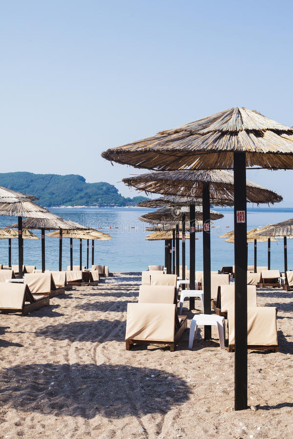 Strand i Budva, Montenegro royaltyfria foton