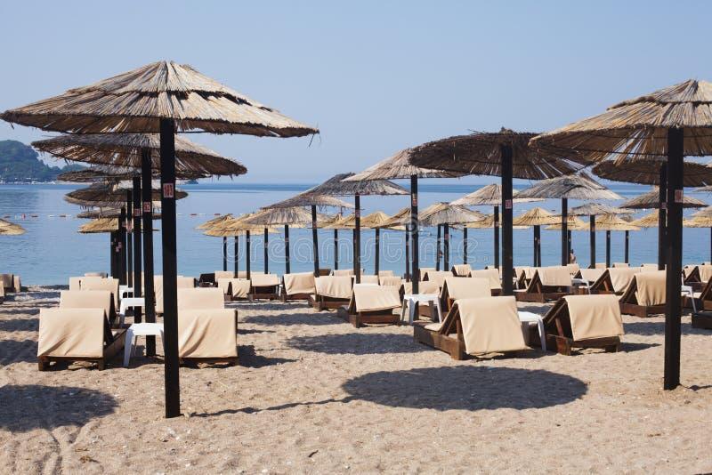 Strand i Budva, Montenegro arkivfoto