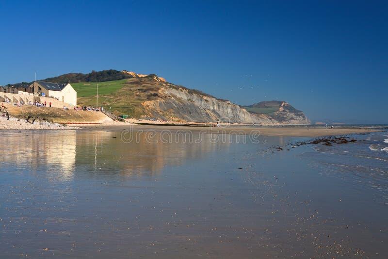 Strand i Charmouth, Dorset, UK royaltyfri foto