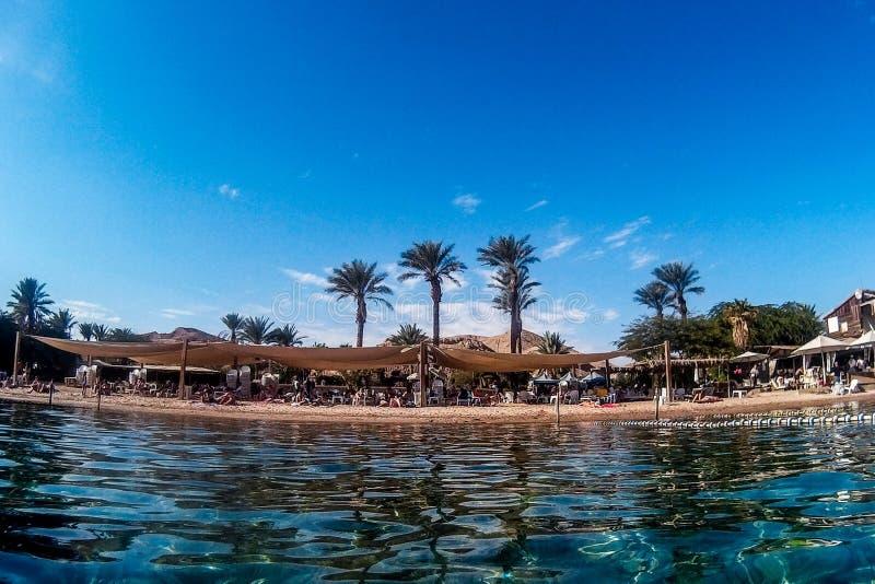 Strand i Eilat royaltyfri fotografi