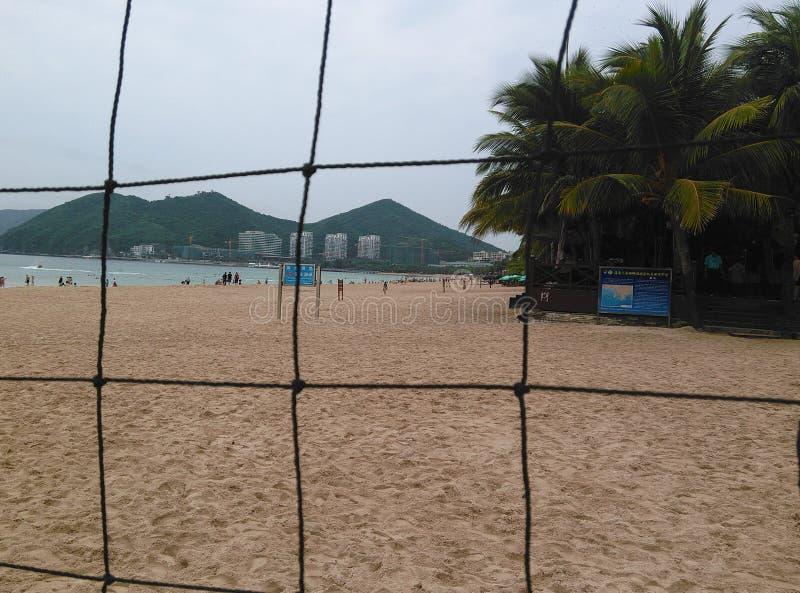 Strand i Haikou, Hainan i Kina arkivbild