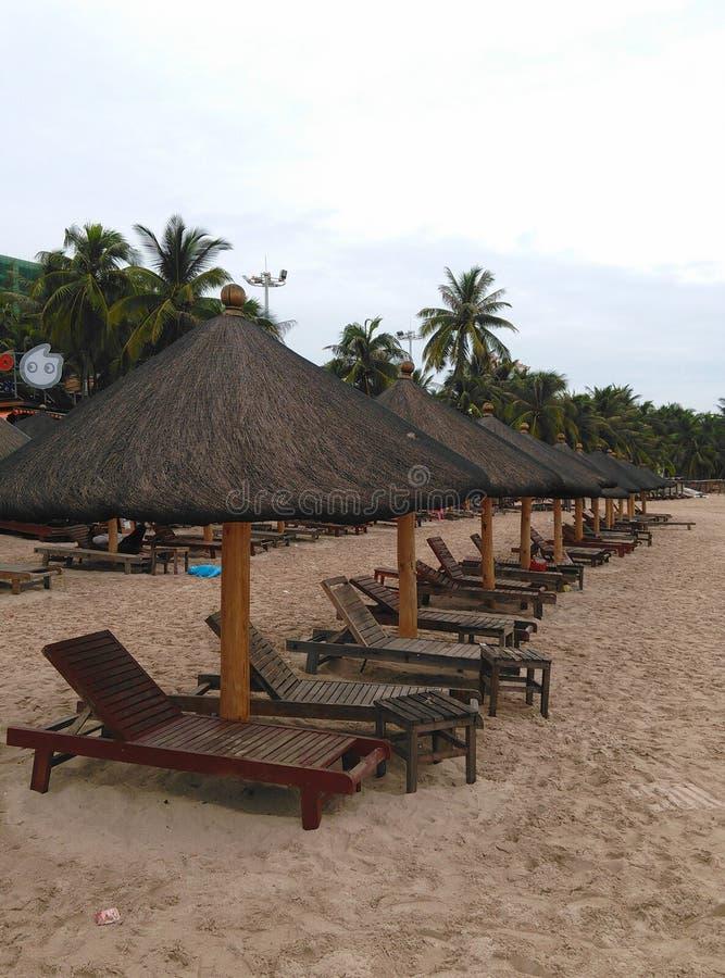 Strand i Haikou, Hainan i Kina royaltyfria bilder