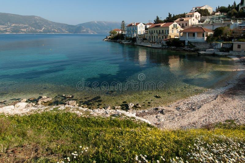 Strand i Kefalonia, Grekland arkivfoto