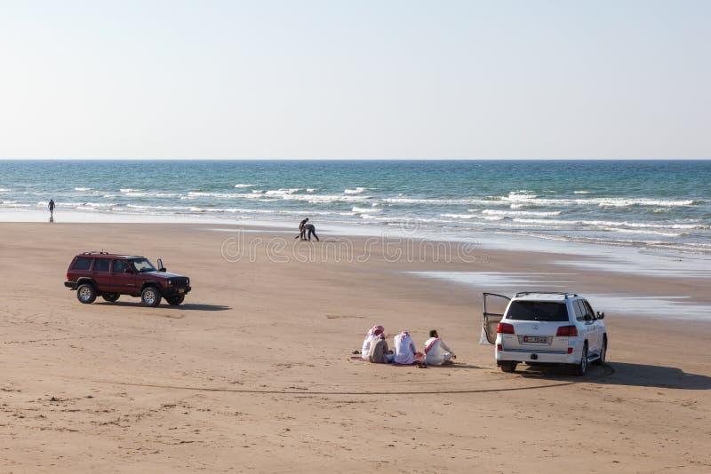 Strand i Muscat, Oman fotografering för bildbyråer