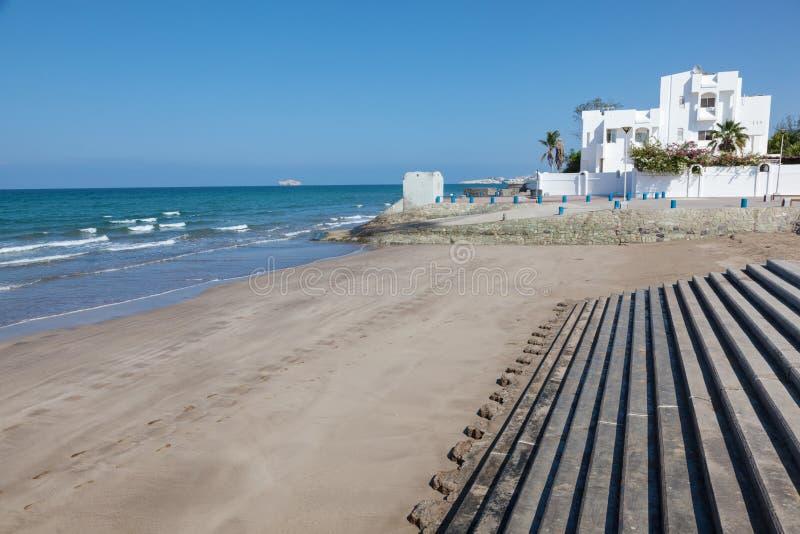Strand i Muscat, Oman arkivbilder