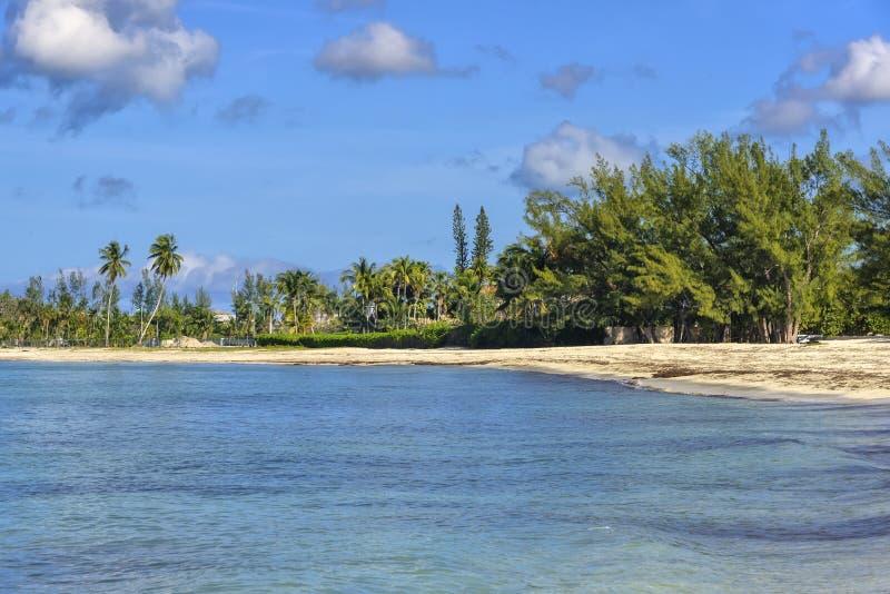 Strand i Nassau, Bahamas arkivfoto