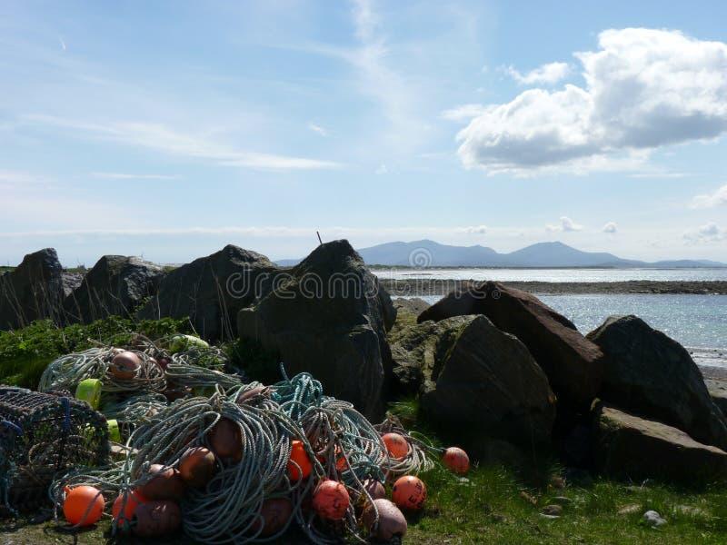 Strand i norr Uist royaltyfria bilder