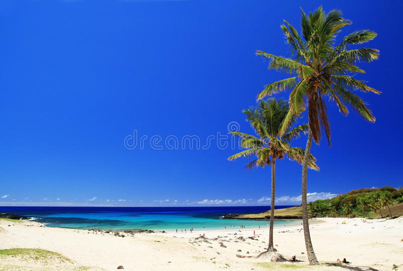 Strand i påskön royaltyfri foto