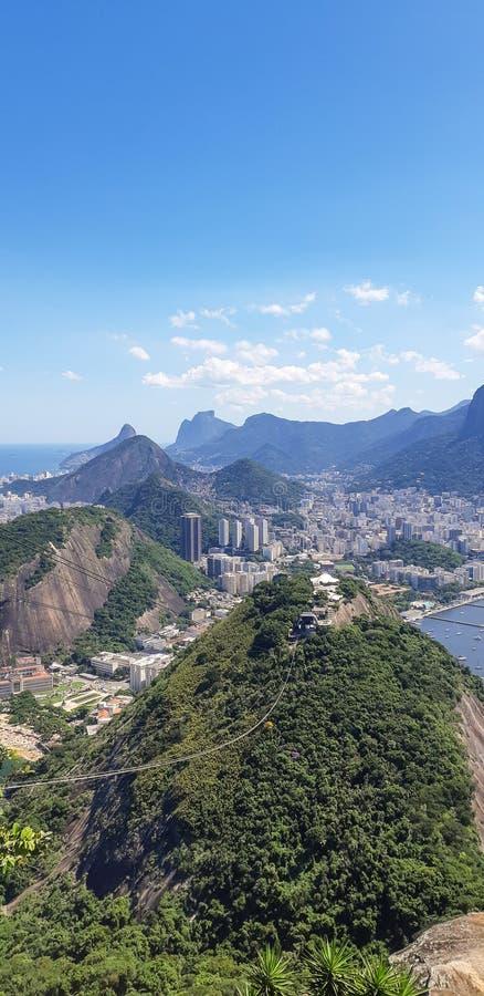 Strand i Rio de Janeiro, Brasilien royaltyfri foto