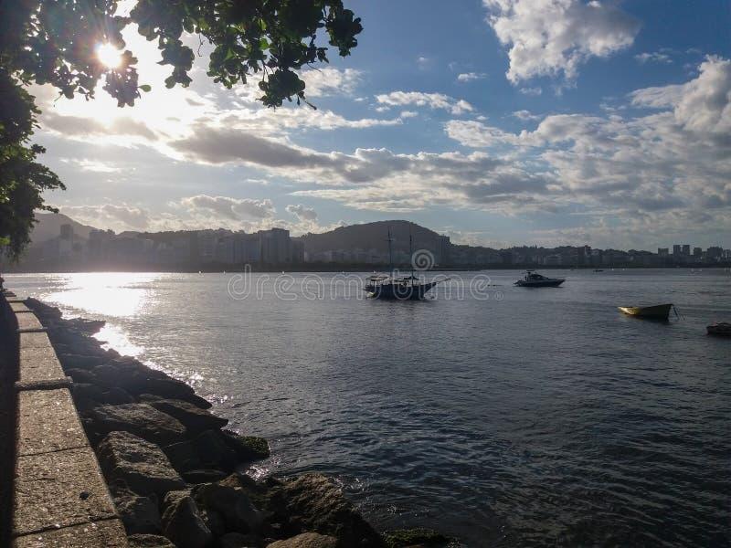 Strand i Rio de Janeiro, Brasilien arkivbild