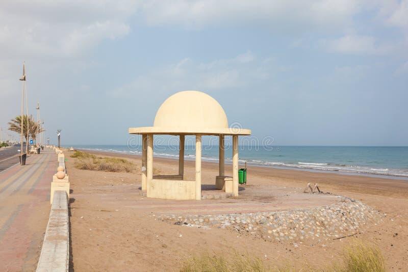 Strand i Seeb, Oman arkivfoto