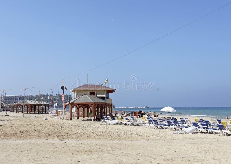 Strand i Tel Aviv, Israel fotografering för bildbyråer