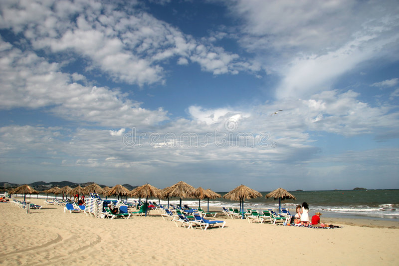 Strand in Ibiza royalty-vrije stock afbeeldingen