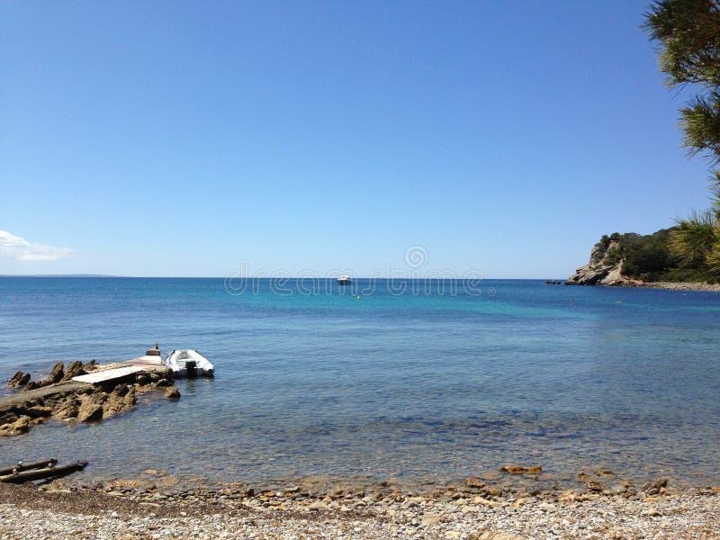 Strand Ibiza Spanien 2013 royaltyfri fotografi