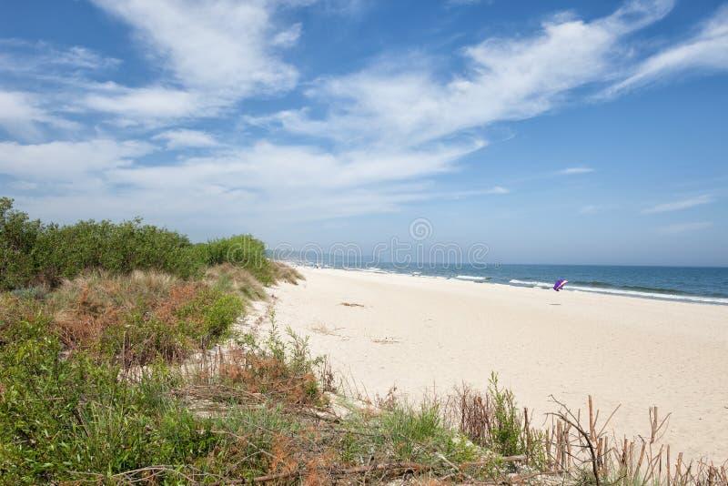 Strand im beliebten Erholungsort von Wladyslawowo in Polen lizenzfreies stockbild