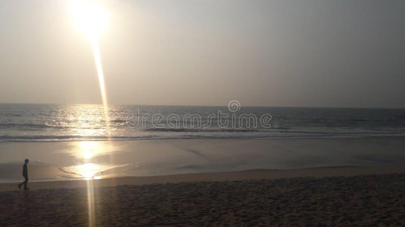Strand in India royalty-vrije stock afbeeldingen