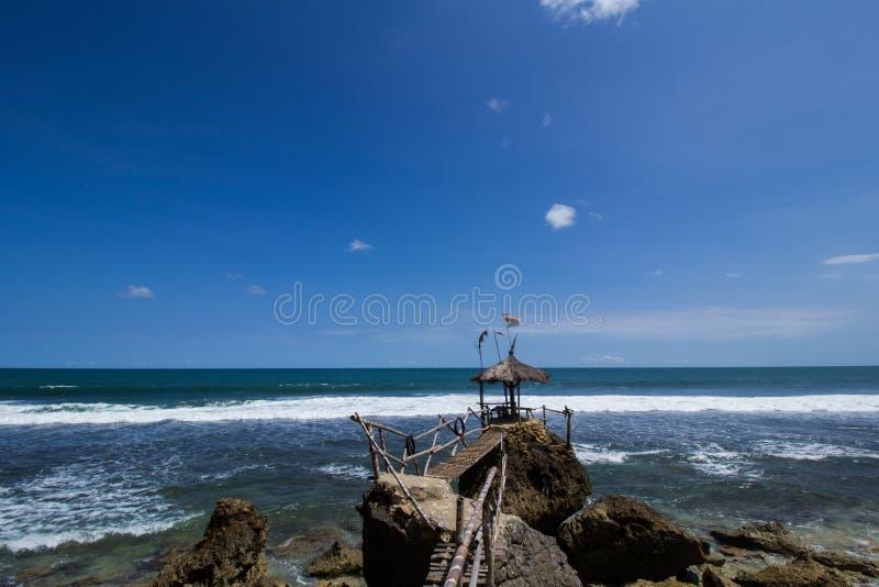 Strand in Indonesië stock afbeeldingen