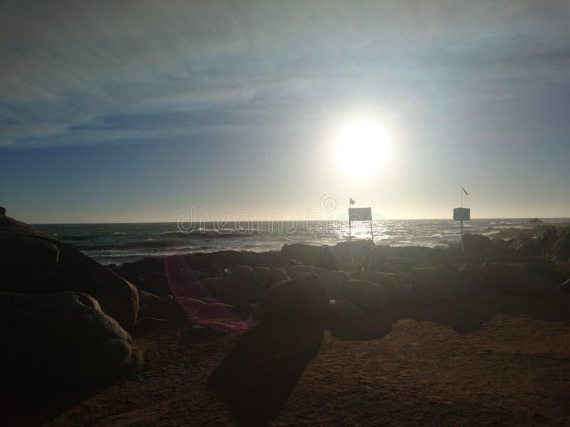 Strand isla negra stockbilder