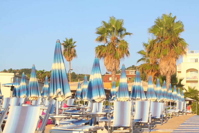 Strand in Italië stock afbeeldingen