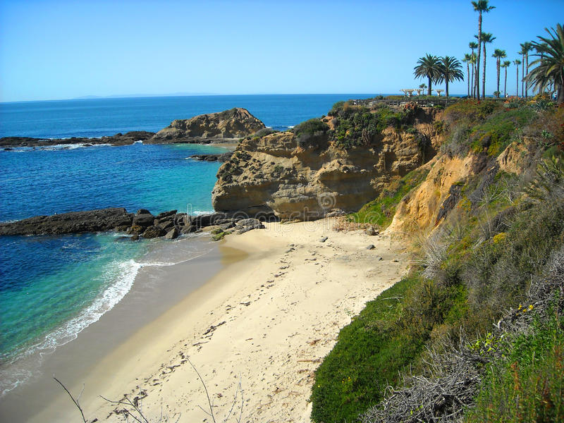 strand Kalifornien laguna royaltyfri bild