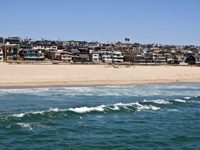 strand Kalifornien manhattan arkivbilder