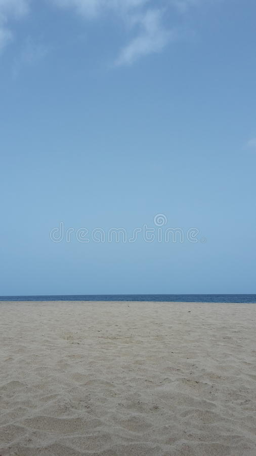 Strand in Kap-Verde lizenzfreies stockbild