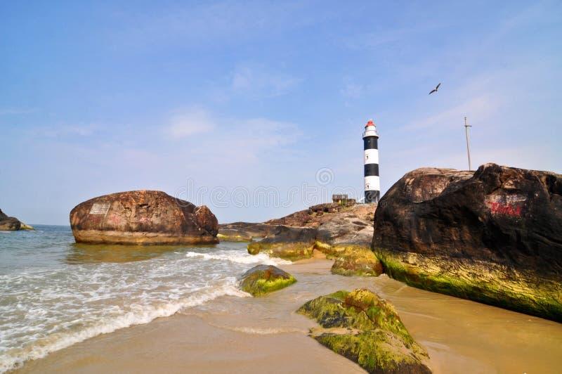 Strand in Konkan royalty-vrije stock afbeelding