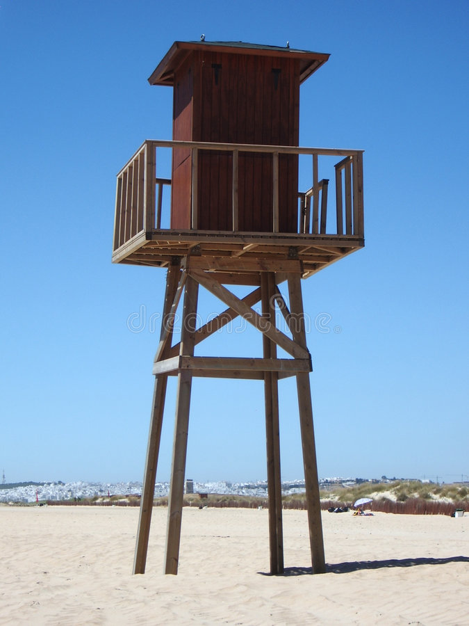 Strand-Kontrollturm lizenzfreie stockbilder