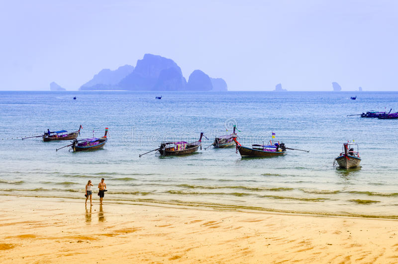 Strand Krabi Thailand för Ao Nang arkivbild