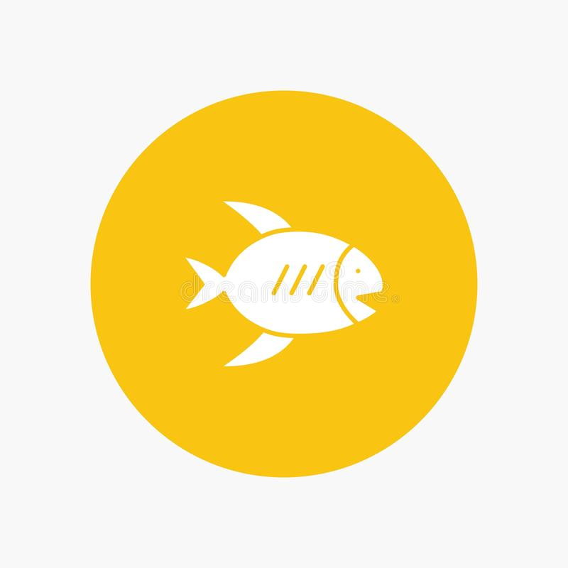 Strand kust, fisk, hav royaltyfri illustrationer
