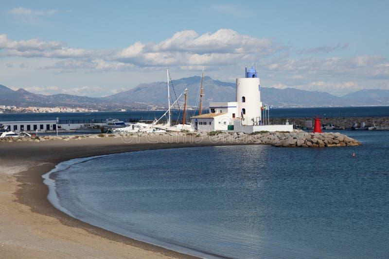 Strand in La Duquesa, Spanje royalty-vrije stock fotografie