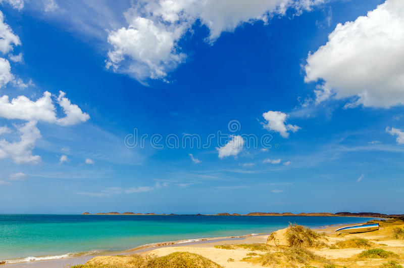 Strand in La Guajira, Colombia royalty-vrije stock afbeelding