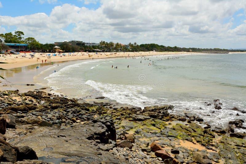 Strand in Laguna Baai in Noosa, Queensland royalty-vrije stock foto's