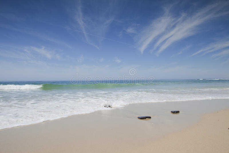 Strand-landskap från Portugal arkivfoton