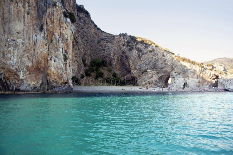 Strand langs de Camerota-kustlijn, Italië royalty-vrije stock fotografie
