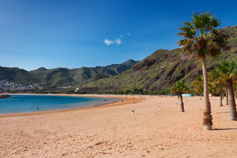 Strand las Teresitas, Tenerife, Spanien lizenzfreies stockbild