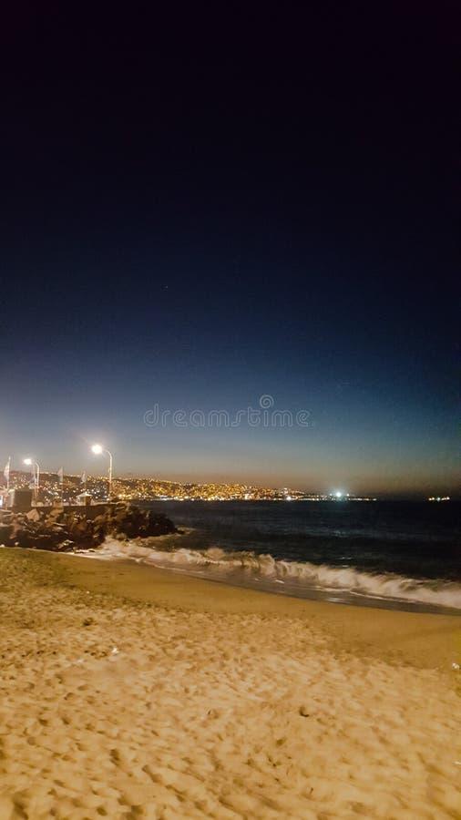 Strand-Licht lizenzfreie stockfotos